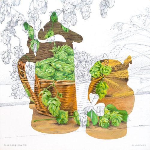 Schultz & Dooley Oil Painting