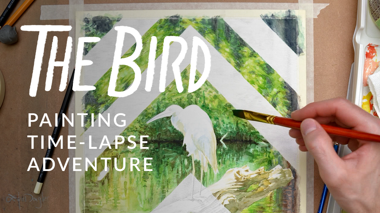 The Bird – A Watercolor Painting Timelapse Adventure