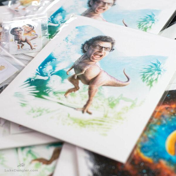 Jeff Goldblum Dinosaur Print pile