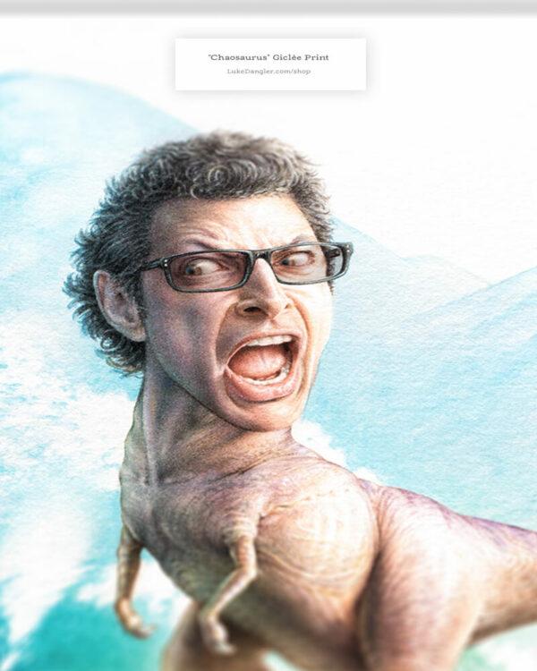 Jeff Goldblum Dinosaur Print detail