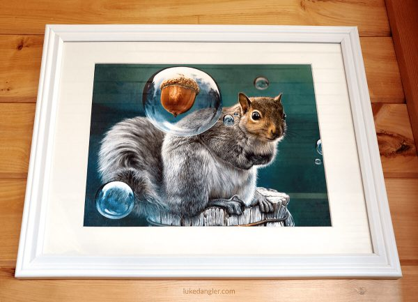 Squirrel Power Print Framed