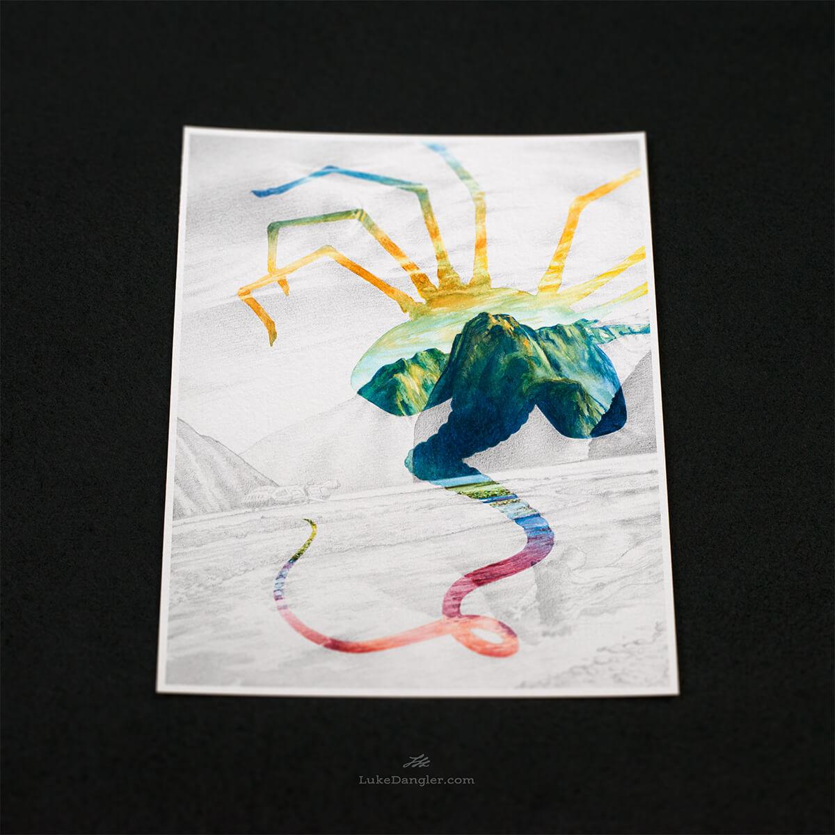 Alien Paradise Print