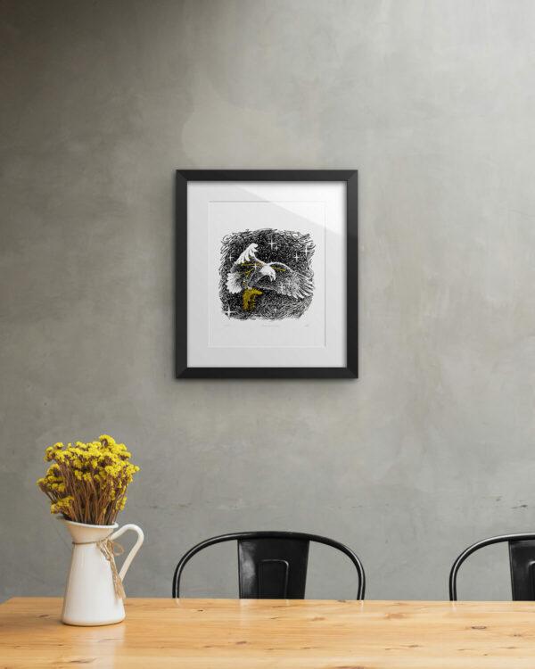 American Eagle Print Framed
