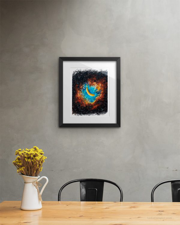The Nanner Nebula Print Framed