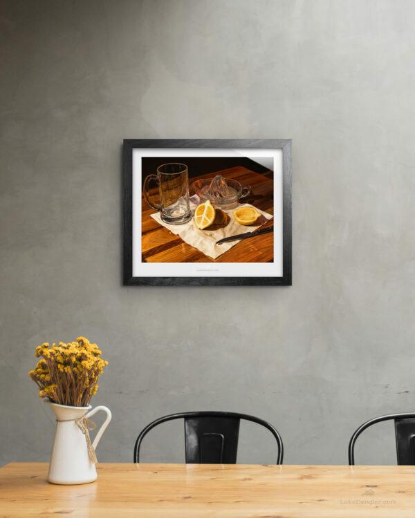 Peace of Fruit Print Framed