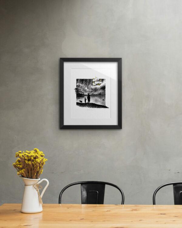 HMS Majestic Print Framed