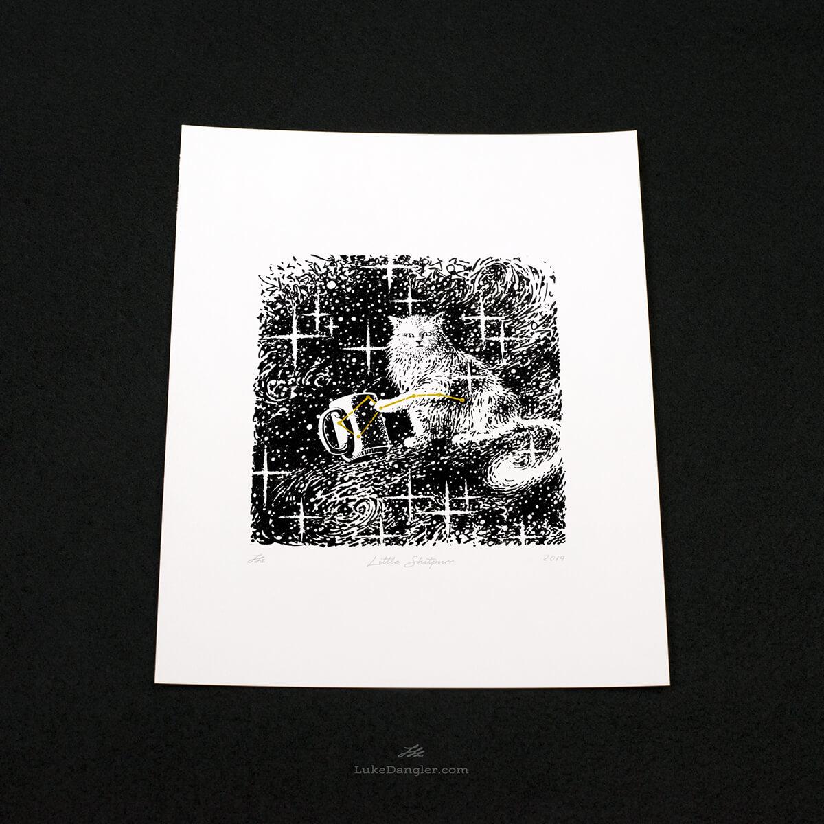 Little Shitpurr Print