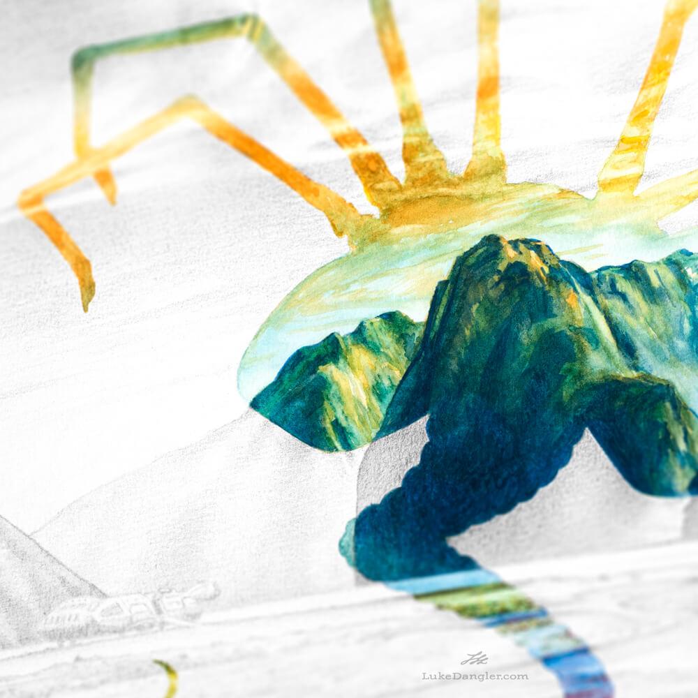 Alien Paradise Painting detail