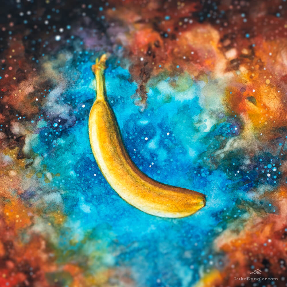 Space Banana Painting detail