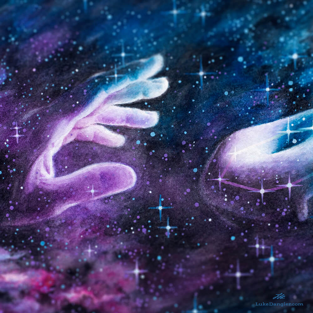 The Donut Constellation Painting detail