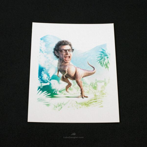 Jeff Goldblum Dinosaur Print