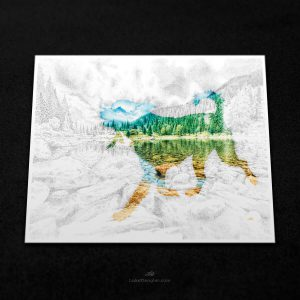 Lake Pup Print