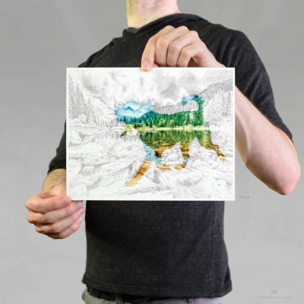 Lake Pup Print 8x10