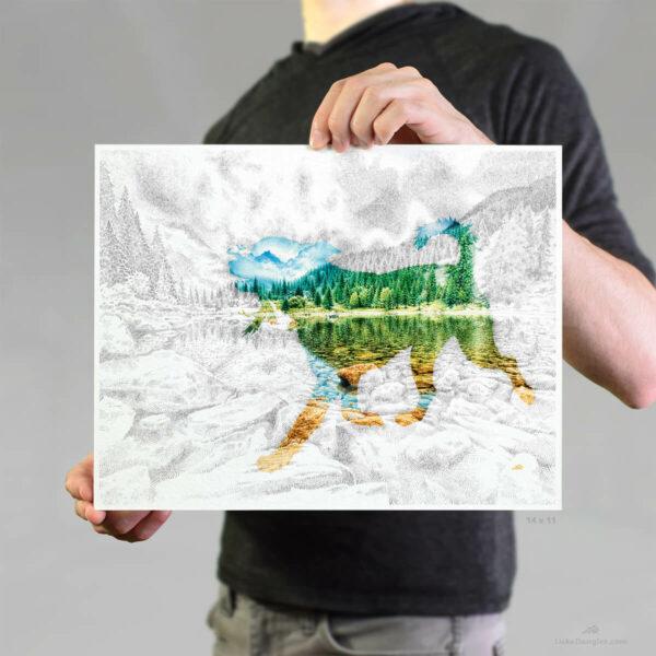 Lake Pup Print 11x14