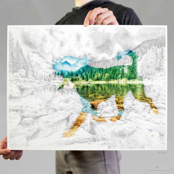 Lake Pup Print 16x20