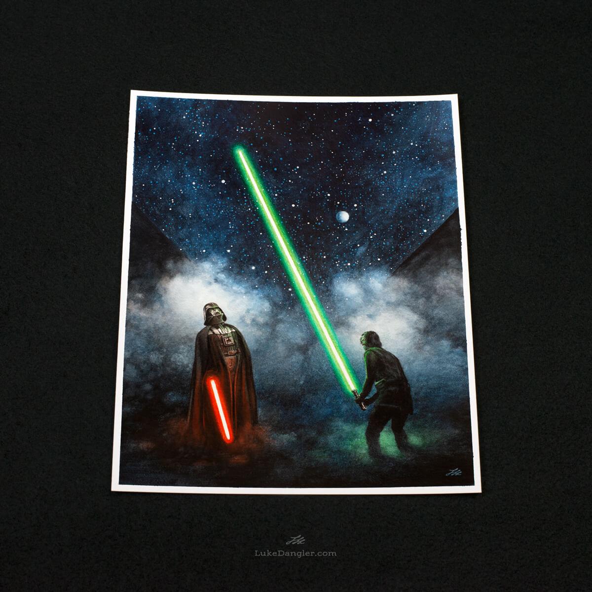 Impressive Lightsaber Print