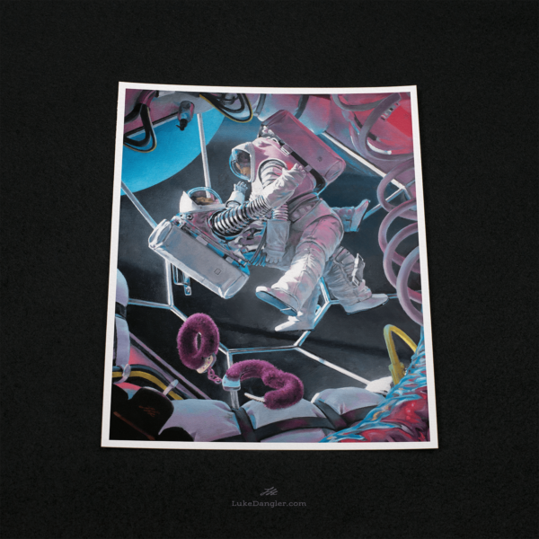 Astronaughty Print