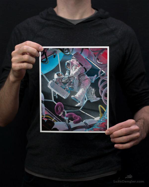 Astronaughty Print 8x10